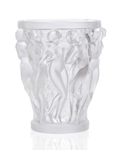 lalique bacchantes small clear vase neiman marcus - Lalique Vase
