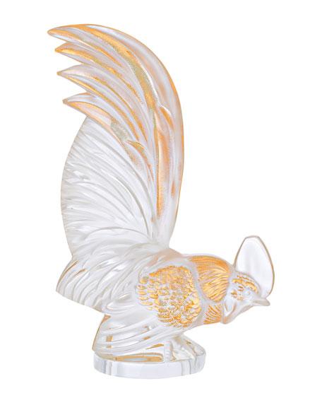 Lalique Gold-Stamped Bantam Rooster