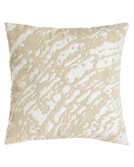 Donna Karan Home Rhythm Abstract Beaded Pillow, 14