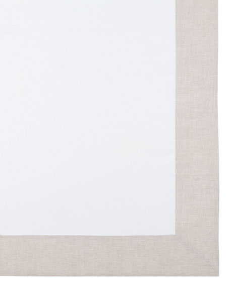 "Hamptons Beige Tablecloth, 70"" x 128"""