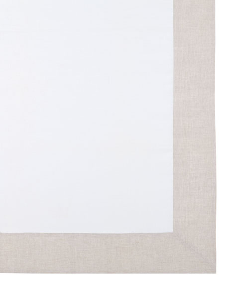 "Hamptons Beige Tablecloth, 70"" x 144"""