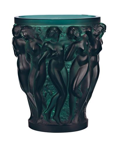 Bacchantes Deep Green Vase
