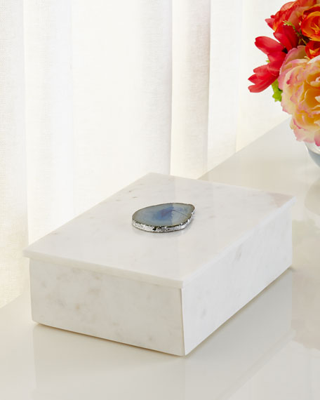 Antilles Box in White Marble