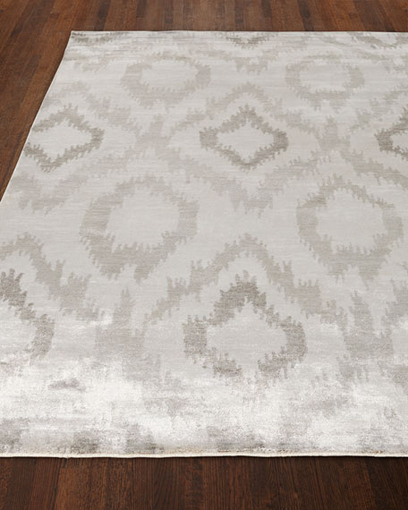 Mesa Hand-Knotted Silver Rug, 6' x 9'