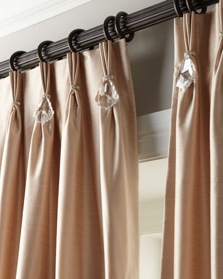 "Each 120""L Pinch-Pleat Curtain"