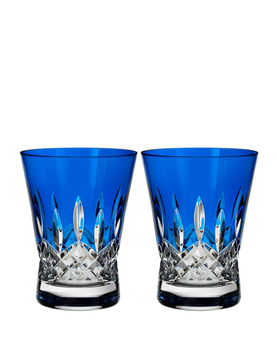 Lismore Pops Cobalt Double Old-Fashioneds  Set of 2