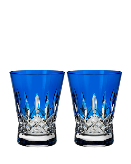 Lismore Pops Cobalt Double Old-Fashioneds, Set of 2