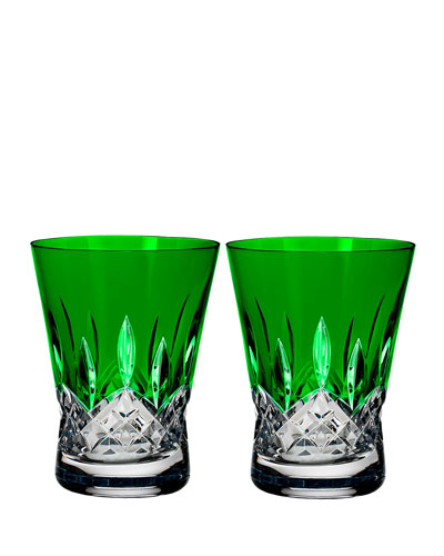 Lismore Pops Emerald Double Old-Fashioneds, Set of 2