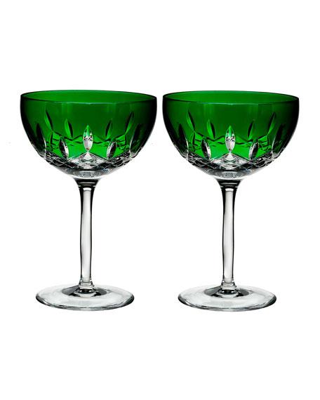 Lismore Pops Emerald Cocktail Glasses, Set of 2