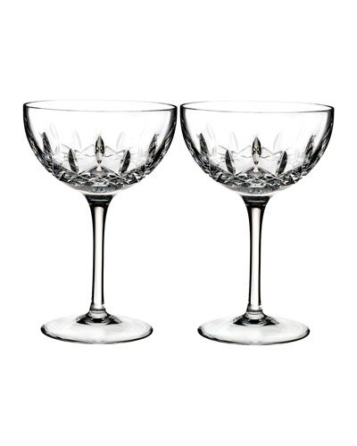Lismore Pops Clear Cocktail Glasses, Set of 2