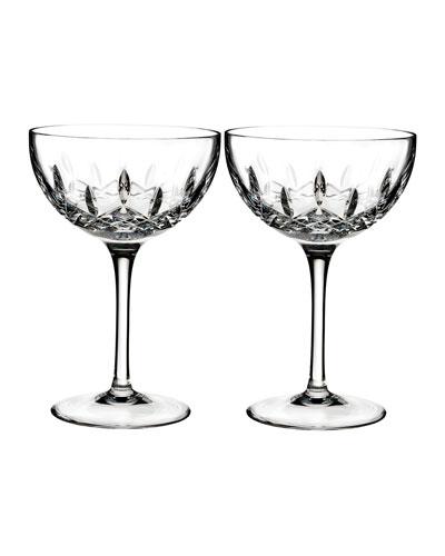 Lismore Pops Clear Cocktail Glasses, Set of 2