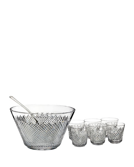 Waterford Crystal Alana 60th Anniversary Punchbowl Set