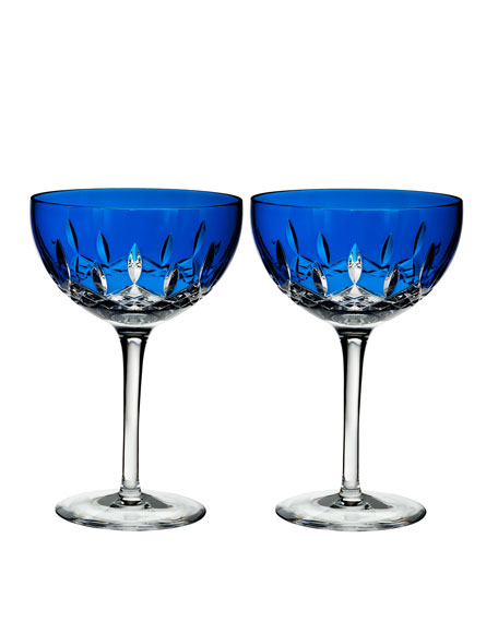 Waterford Crystal Lismore Pops Cobalt Cocktail Glasses, Set