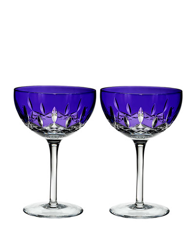 Lismore Pops Purple Cocktail Glasses, Set of 2