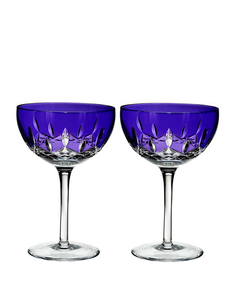 Waterford Crystal Lismore Pops Purple Cocktail Glasses, Set