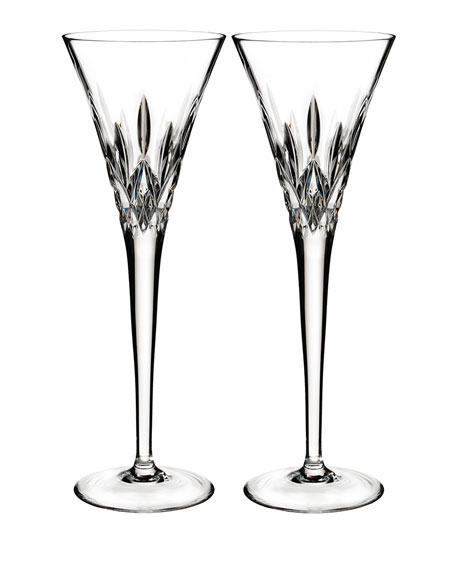 Pops Clear Toasting Flutes, Set of 2
