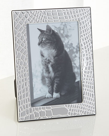 Christofle Croco D'Argent Picture Frame