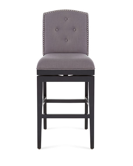 Pepperton Tufted Swivel Barstool