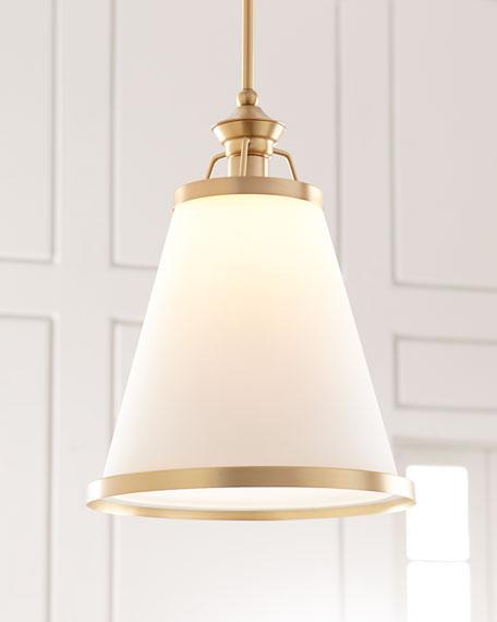Ashmont 1-Light Warm Brass Pendant
