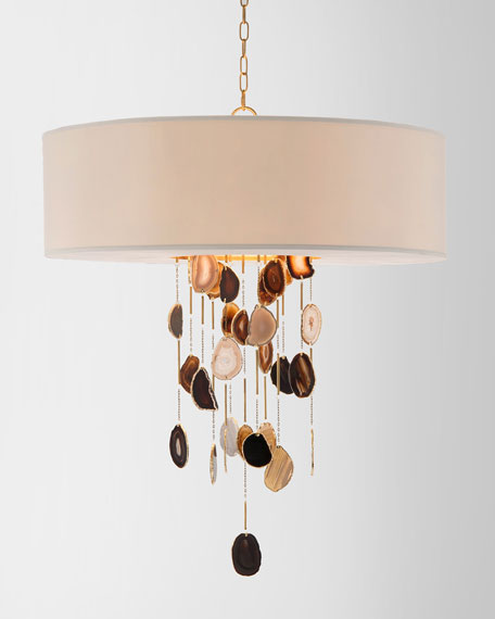 John Richard Collection Falling Agate 6 Light Chandelier