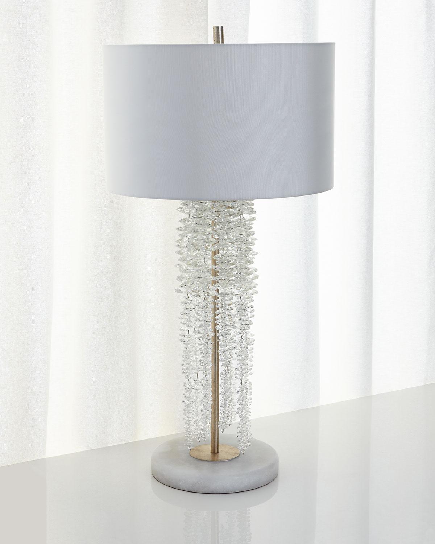 John Richard Collection Cascading Crystal Waterfall Table Lamp