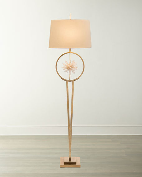 John-Richard Collection Encircled Quartz Crystal Star Floor Lamp