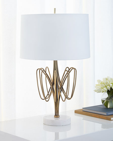 John-Richard Collection Twisted Brass Bloom Table Lamp