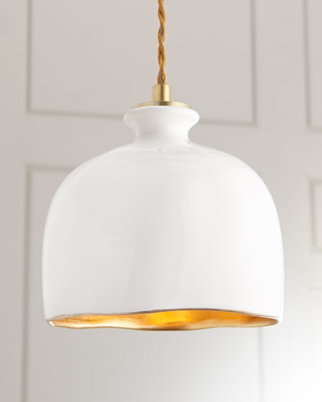 Bianca dome 1 light pendant