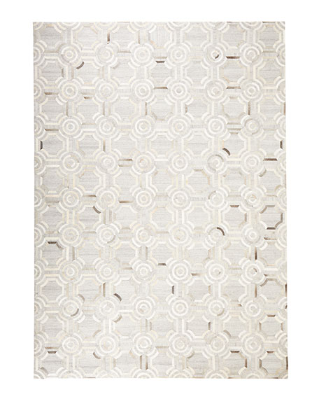 "Woodbridge Leather Rug, 9'3"" x 13'"