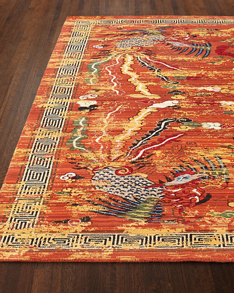 """Imperial Persimmon Rug, 7'9"""" x 9'9"""""""