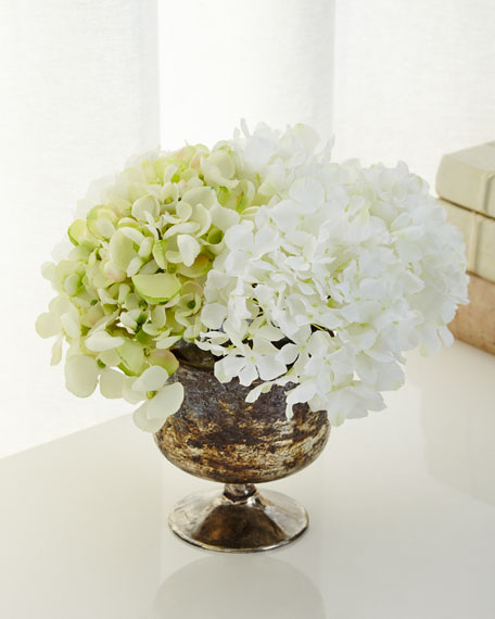 John-Richard Collection Luxe Hydrangea Faux-Floral Arrangement