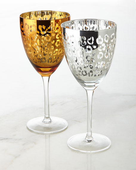 Artland Leopard Wine Glasses, Set of 4