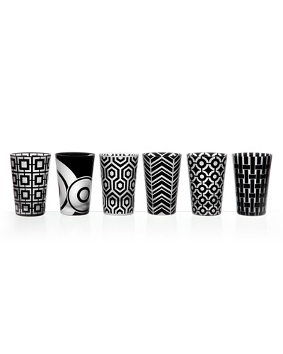Graphic Double Old-Fashioneds, 6-Piece Set