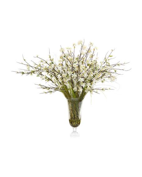 White Blossoms Faux-Floral Arrangement