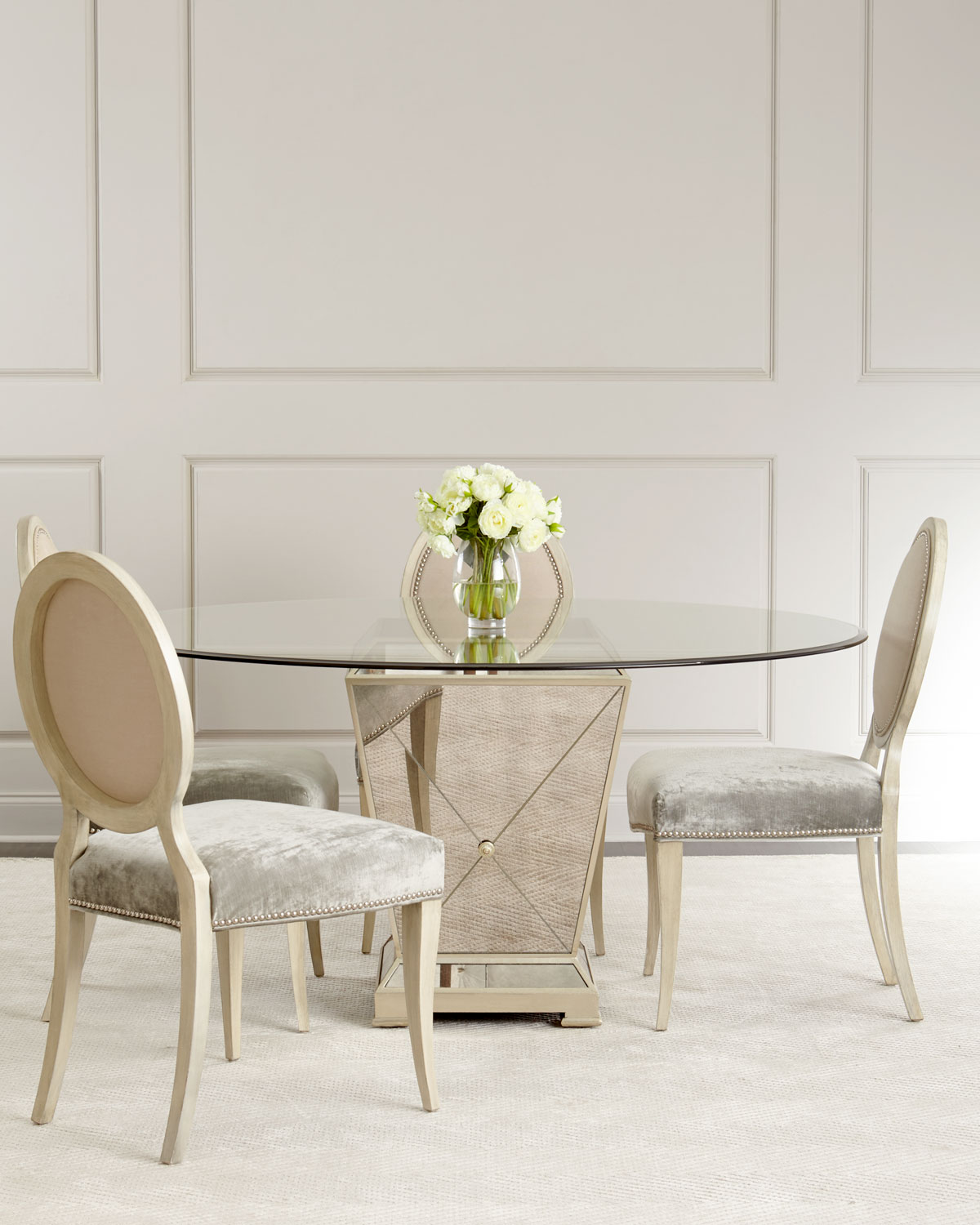 Mirrored Dining Room Table: Milo Mirrored Dining Table