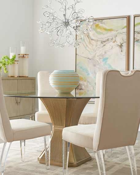 Haute House Evie Silver Dining Table and Matching