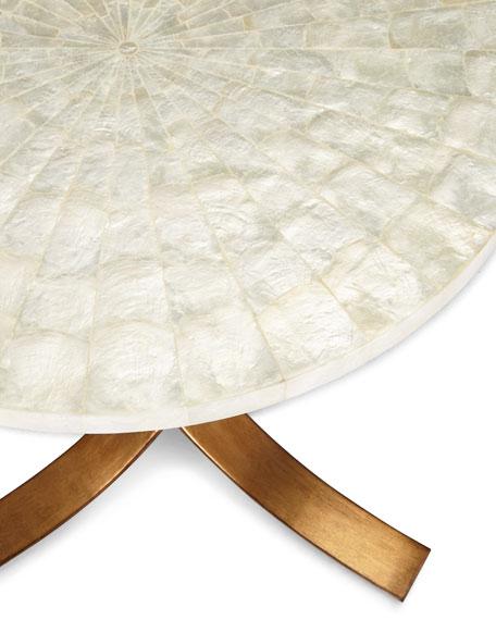 Meir Capiz-Shell Side Table