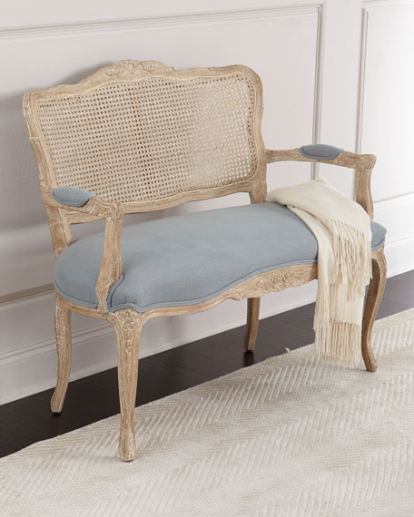 Azure Cane Settee