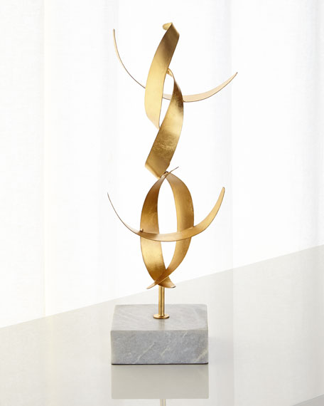 Gold-Leaf Abstract Sculpture