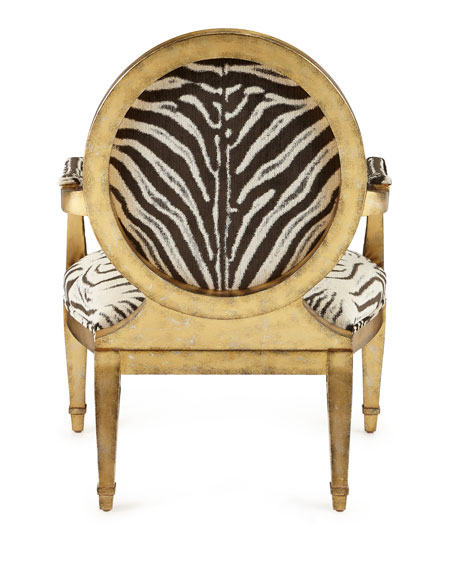 Marlon Zebra Print Accent Chair Neiman Marcus