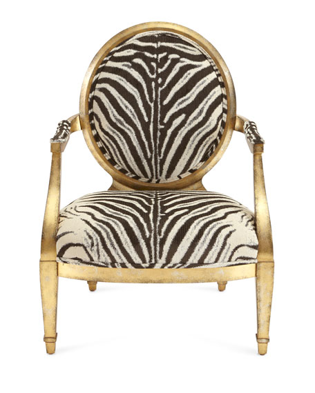 Marlon Zebra Print Accent Chair
