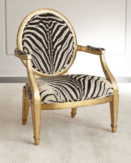 Marlon Zebra-Print Accent Chair