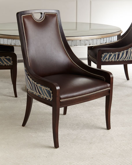 quick look massoud markham leather dining chair
