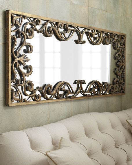 Apricena Scroll-Framed Mirror