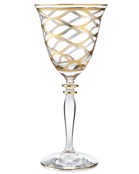 Vietri Elegant Net Wine Glass