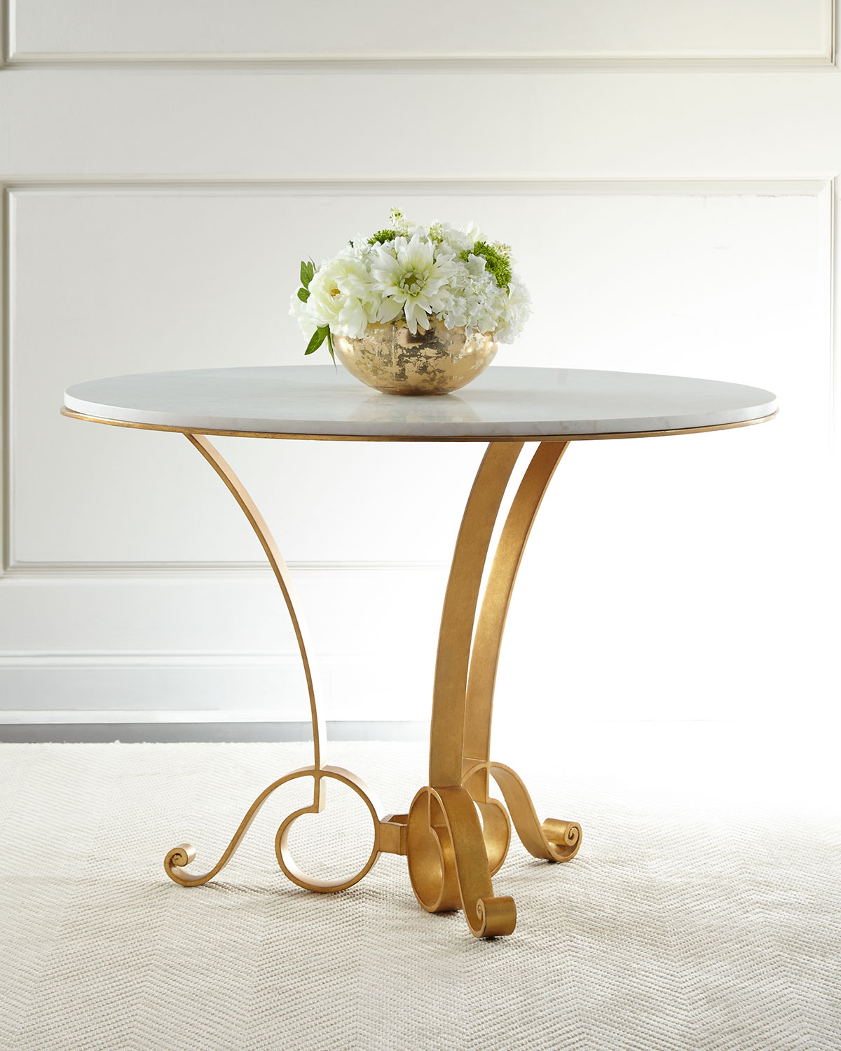 Bassani Marble Top Entry Table Neiman Marcus