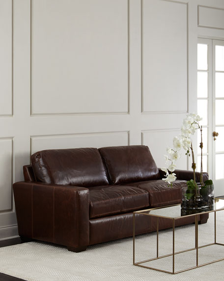 Templeton leather sofa neiman marcus for Stores like horchow