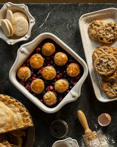 Berry & Thread Whitewash Square Baker