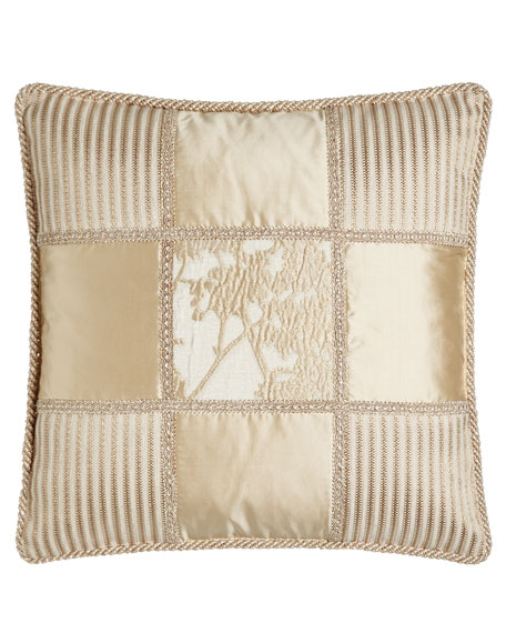 "Fauna Patch Pillow, 20""Sq."