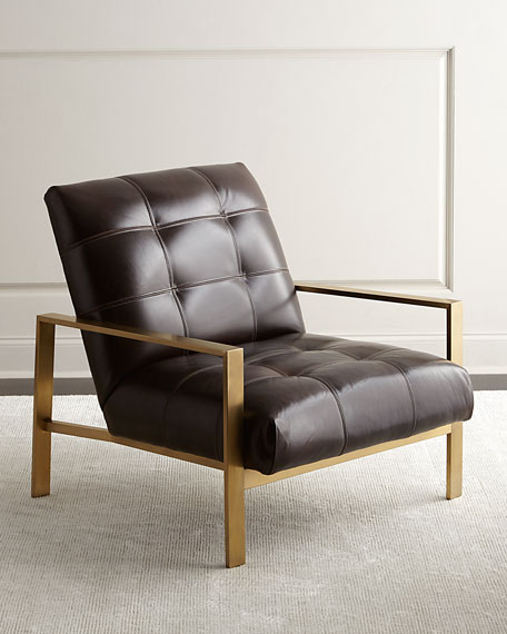 Massoud Rocco Leather Chair